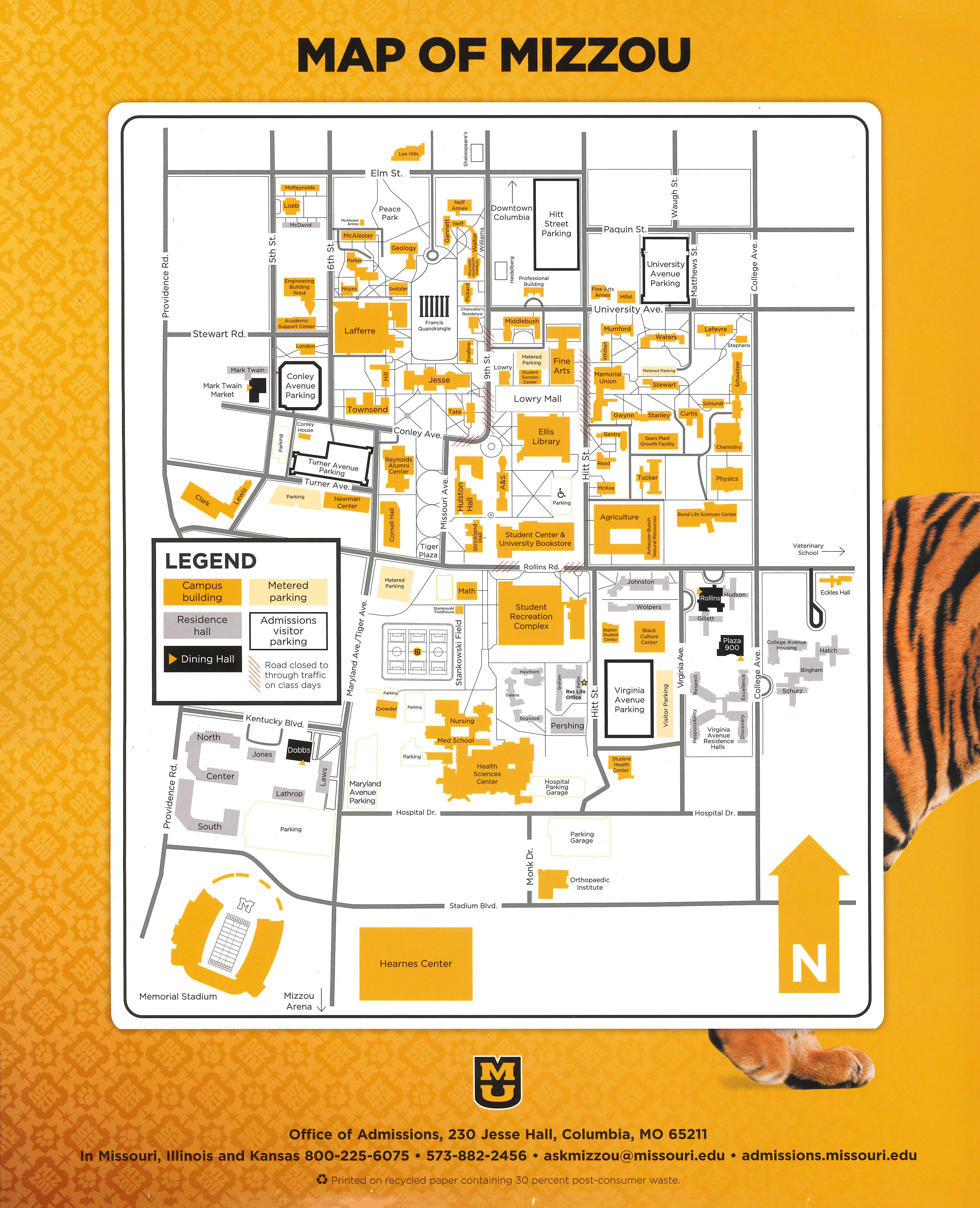 map of mizzou campus Map Of Mizzou map of mizzou campus