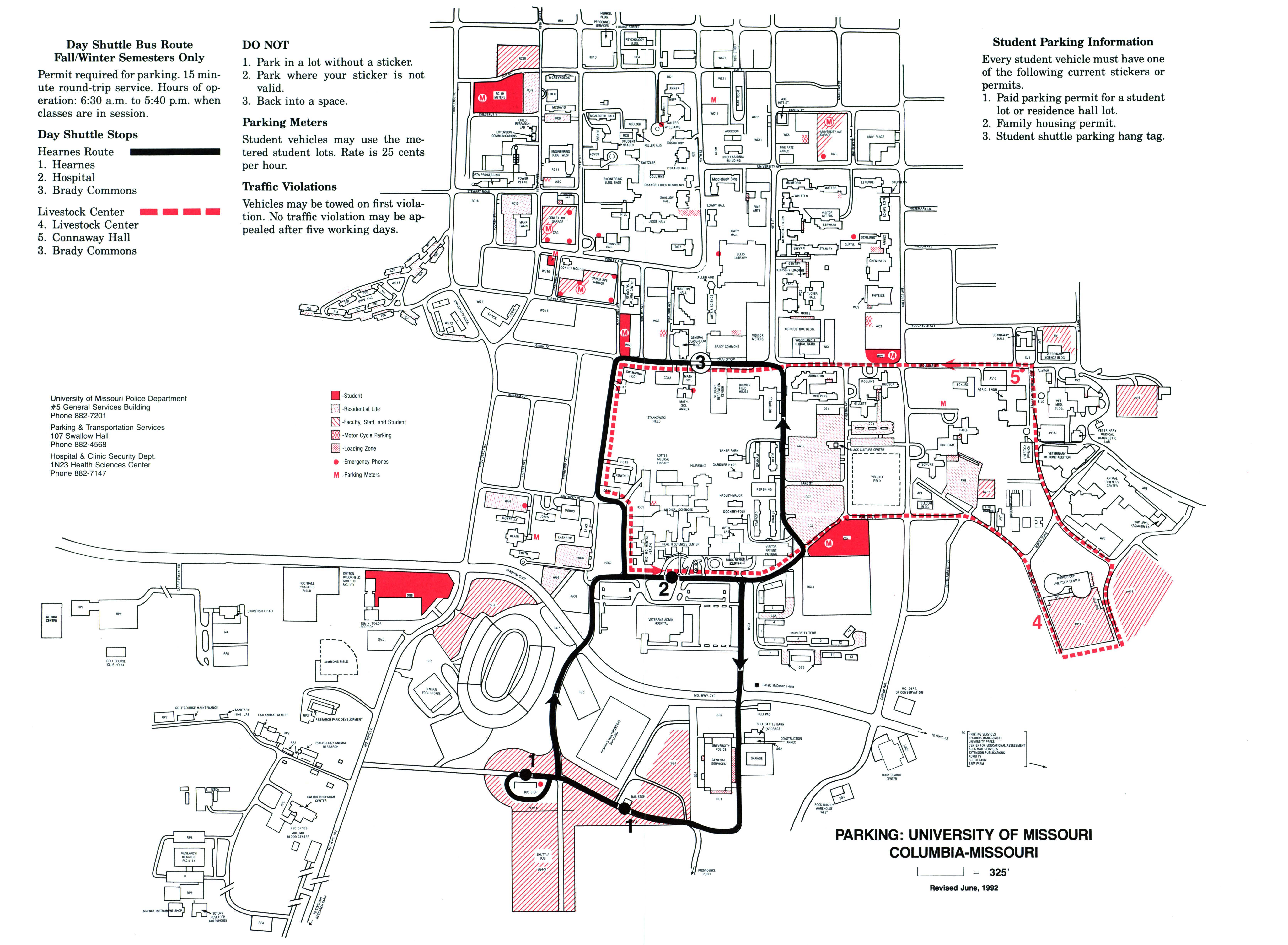 Day shuttle bus route : fall/winter semesters only